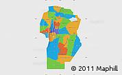 Political Map of Cordoba, single color outside