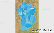 Political Shades Map of Cordoba, satellite outside