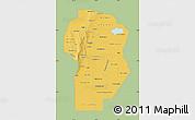Savanna Style Map of Cordoba, single color outside