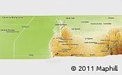 Physical Panoramic Map of Minas