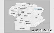 Gray Panoramic Map of Cordoba, single color outside
