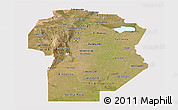 Satellite Panoramic Map of Cordoba, cropped outside
