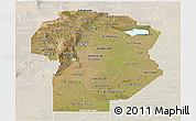 Satellite Panoramic Map of Cordoba, lighten