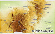 Physical Panoramic Map of Punilla