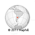 Outline Map of Rio Cuarto