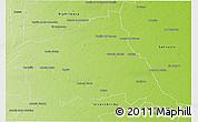 Physical 3D Map of Rio Segundo