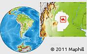 Physical Location Map of Rio Segundo, highlighted parent region