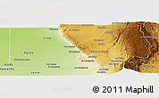 Physical Panoramic Map of San Alberto