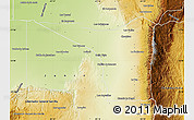 Physical Map of San Javier
