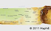 Physical Panoramic Map of San Javier