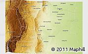 Physical 3D Map of Santa Maria