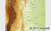 Physical Map of Santa Maria