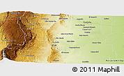 Physical Panoramic Map of Santa Maria