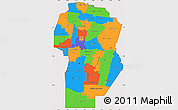 Political Simple Map of Cordoba, cropped outside