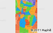 Political Simple Map of Cordoba, political shades outside