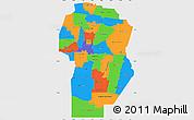 Political Simple Map of Cordoba, single color outside