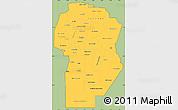 Savanna Style Simple Map of Cordoba, cropped outside