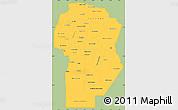 Savanna Style Simple Map of Cordoba, single color outside