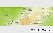 Physical Panoramic Map of Sobremonte