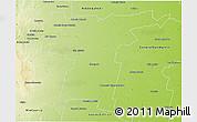 Physical 3D Map of Tercero Arriba