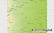 Physical Map of Tercero Arriba
