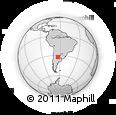 Outline Map of Tercero Arriba