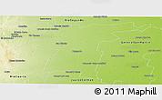 Physical Panoramic Map of Tercero Arriba
