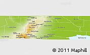 Physical Panoramic Map of Tulumba