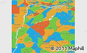Political 3D Map of Corrientes