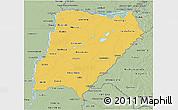Savanna Style 3D Map of Corrientes