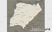 Shaded Relief 3D Map of Corrientes, darken