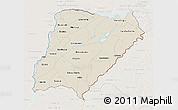Shaded Relief 3D Map of Corrientes, lighten