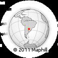 Outline Map of Beron De Astrada