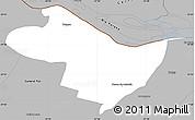 Gray Simple Map of Beron de Astrada