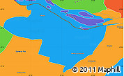 Political Simple Map of Beron de Astrada