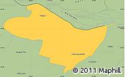 Savanna Style Simple Map of Beron de Astrada