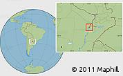 Savanna Style Location Map of Capital