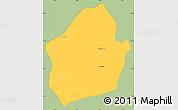 Savanna Style Simple Map of Capital, single color outside