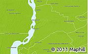 Physical 3D Map of Empedrado
