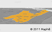 Political Panoramic Map of Ganeral Paz, desaturated