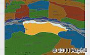 Political Map of Itati, darken