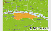 Political Map of Itati, physical outside