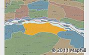 Political Map of Itati, semi-desaturated