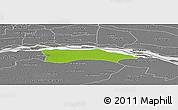 Physical Panoramic Map of Itati, desaturated