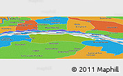 Physical Panoramic Map of Itati, political outside