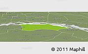 Physical Panoramic Map of Itati, semi-desaturated