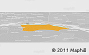 Political Panoramic Map of Itati, lighten, desaturated