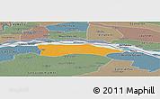 Political Panoramic Map of Itati, semi-desaturated