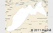 Classic Style Simple Map of Ituzaingo