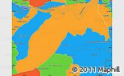 Political Simple Map of Ituzaingo